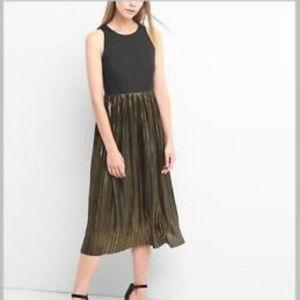 Gap double layered metallic maxi dress